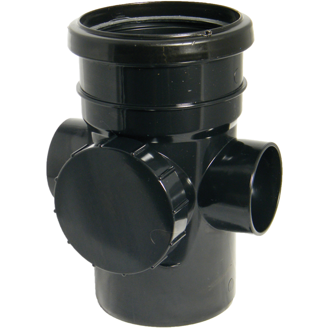 FloPlast 110mm Soil Access Pipe Section